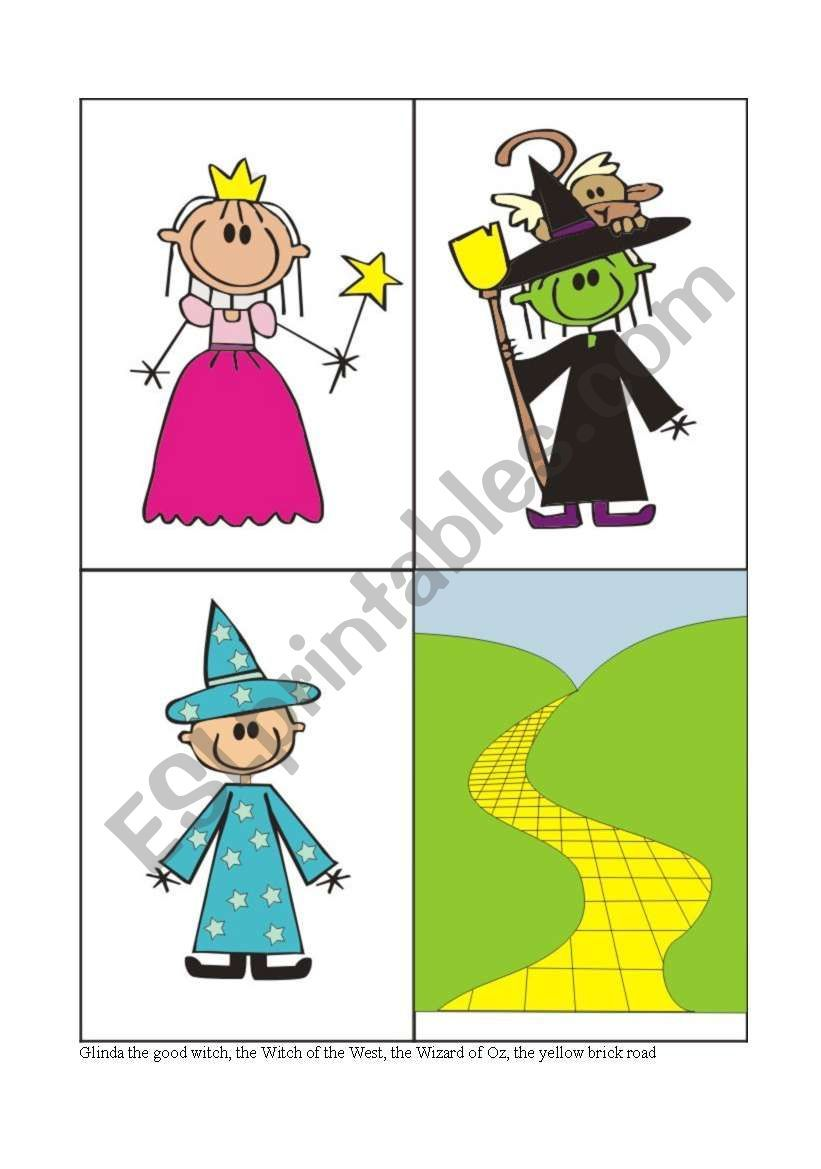 The Wizard Of Oz Flash Card 3 4 Flashcards Cards Wizard Of Oz