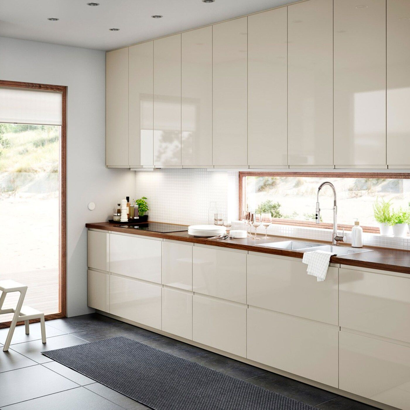 High Gloss Kitchen Cabinets For Smart And Sleek Style In 2020
