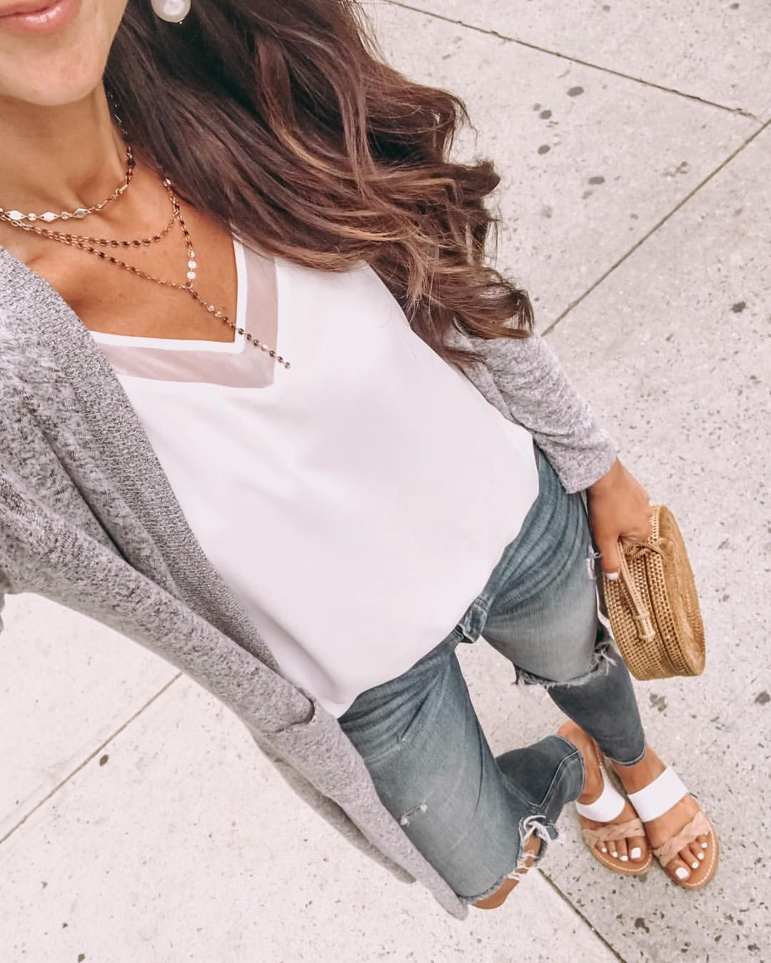 Walking around NYC today... catch my stories to see my friends shopping  dilemma ♀️btw my cami is back in stock and my cardi is… 2ad8d9ca1e3