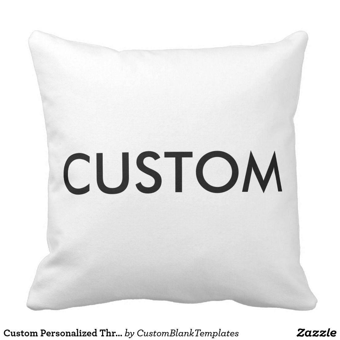 Custom Personalized Throw Pillow Blank Template | Custom ...