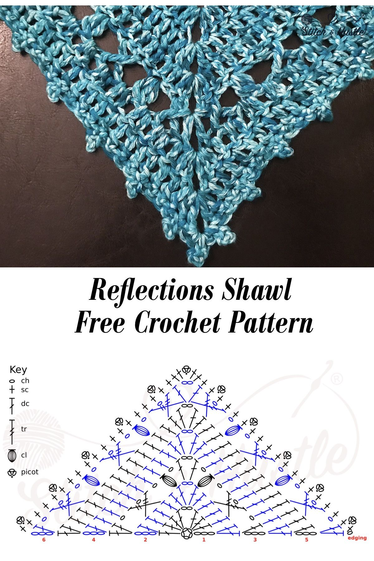 Reflections Shawl Mommy & Me Free Crochet Pattern #shawlcrochetpattern