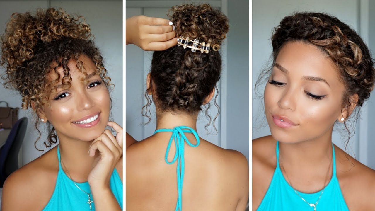 Hairstyles For Curly Hair Summer Curly Hairstyles Hairstylesforcurlyhair Summer Curly Hair Up Medium Curly Hair Styles Curly Hair Styles