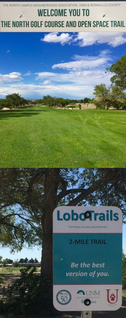 UNM North Golf Course Running Trail   Golf and Running UNM North Golf Course Running Trail  New Mexico Healthy Living