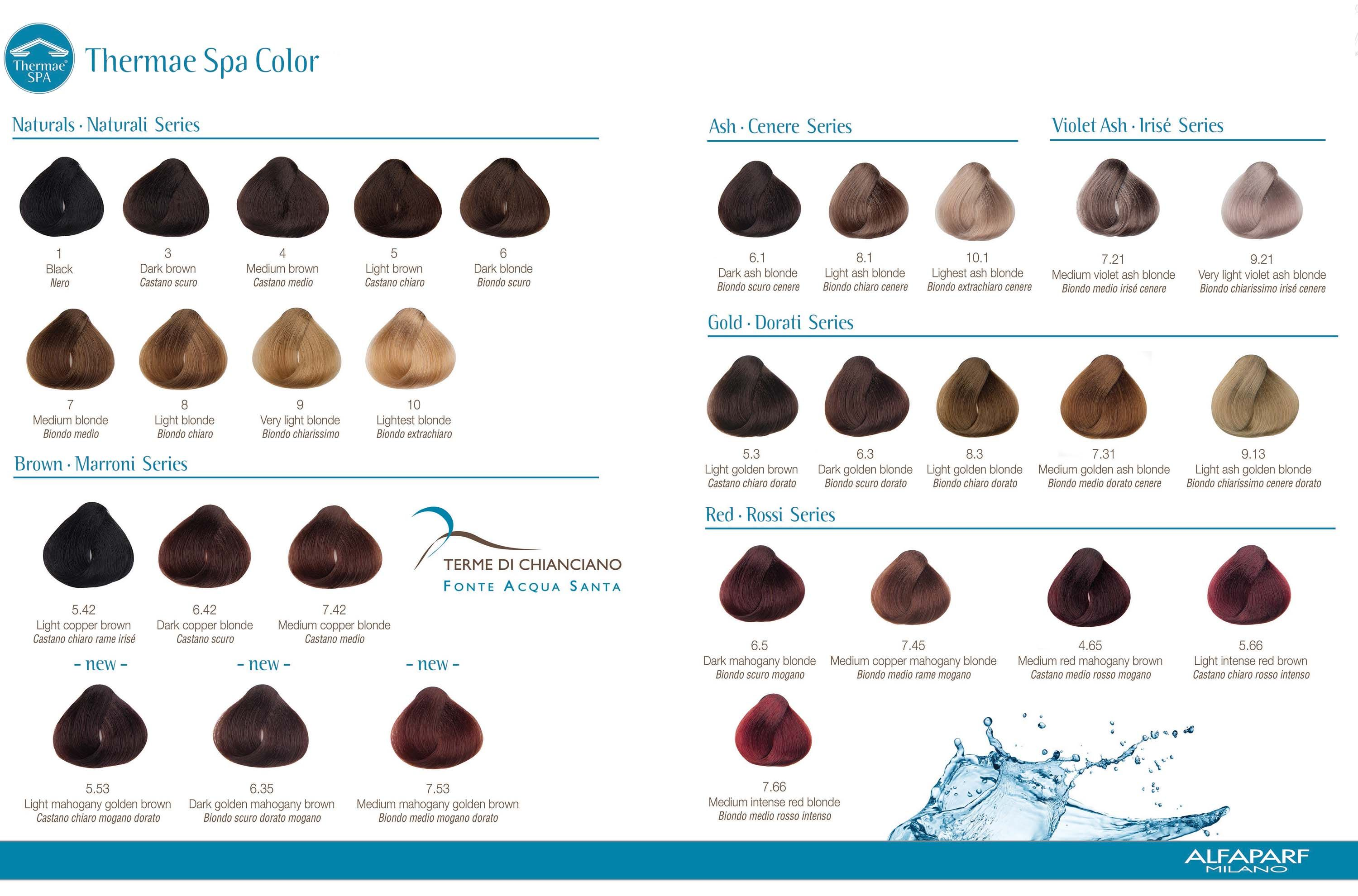 Color chart yellow alfaparf evolution hair color in 2016 amazing alfaparf thermae spa color chart nvjuhfo Images
