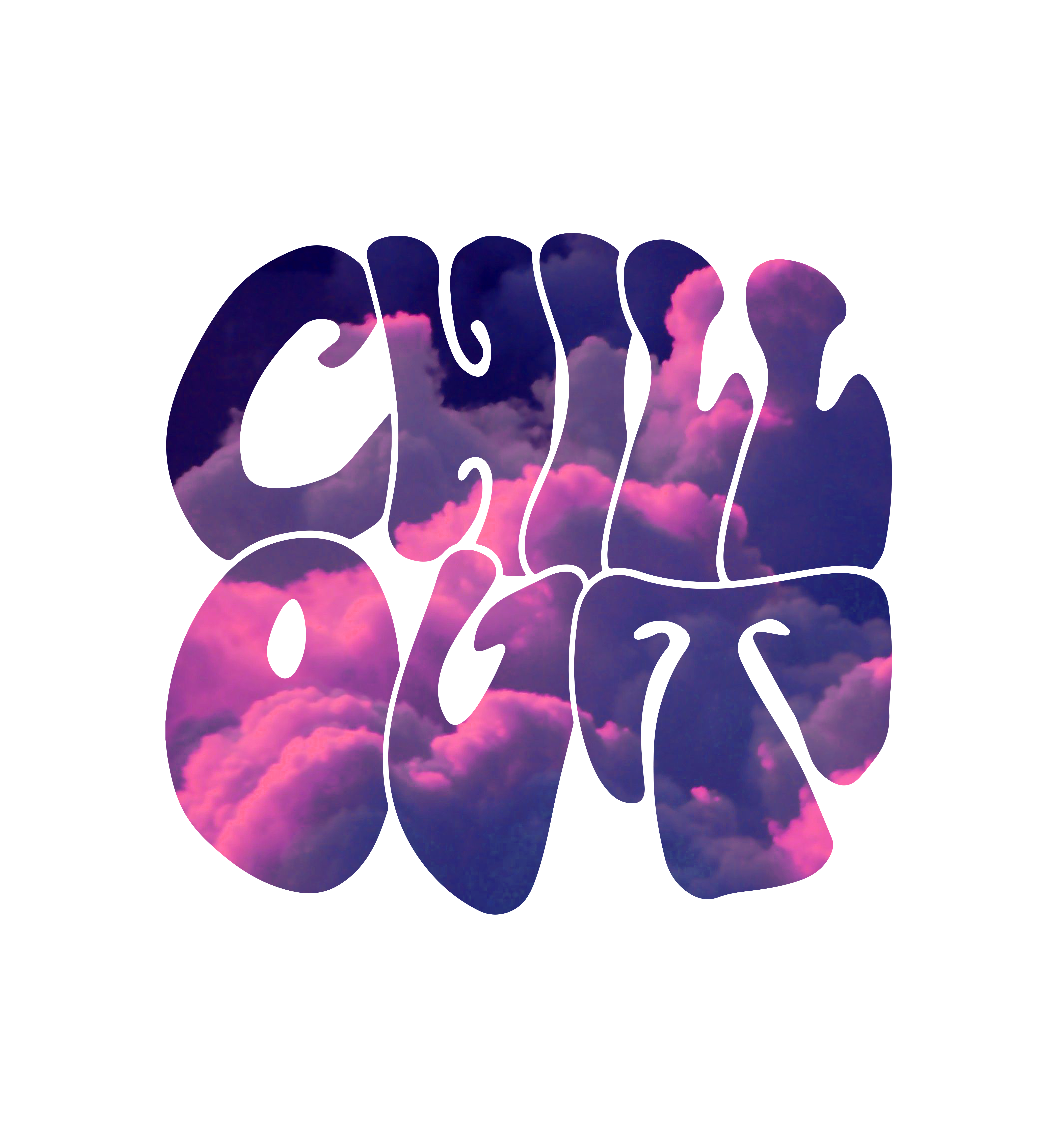 """'""""Chill Out"""" Pink Clouds' Sticker by thesnootprince Pink"""