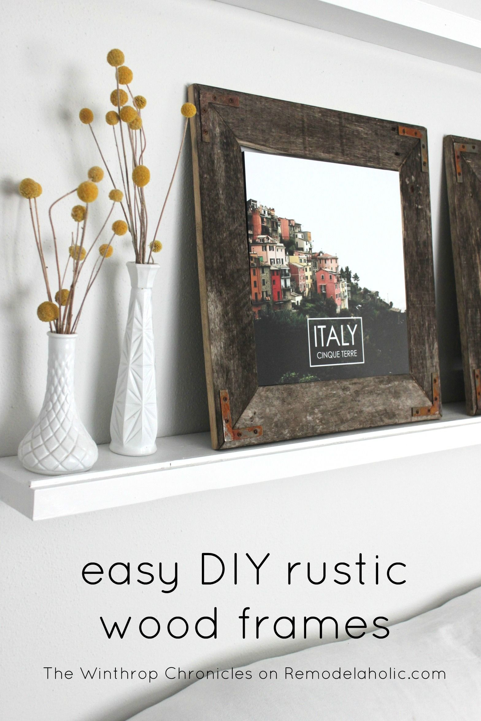 diy rustic industrial picture frame by the winthrop chronicles featured by remodelaholic - Diy Rustic Picture Frame