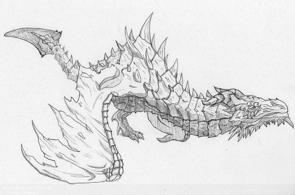 Paarthurnax. skyrim elder dragon. by Revenant337