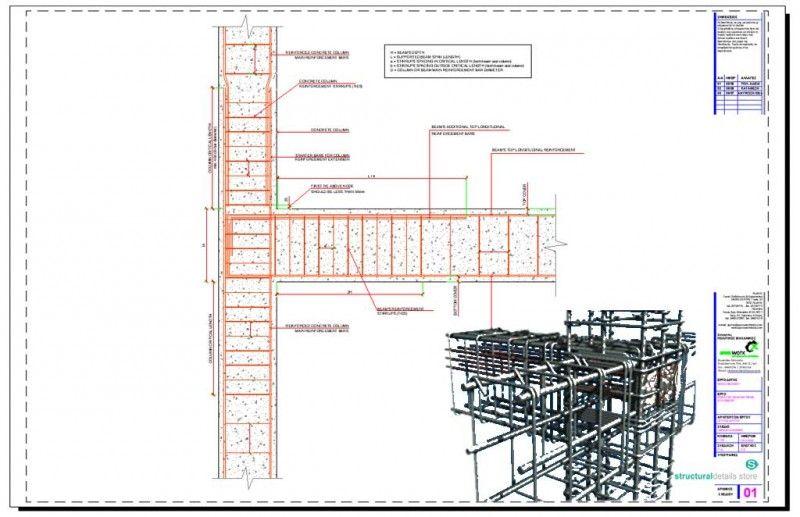 Complete Reinforced Concrete Details Library Concrete Column Reinforced Concrete Concrete Retaining Walls