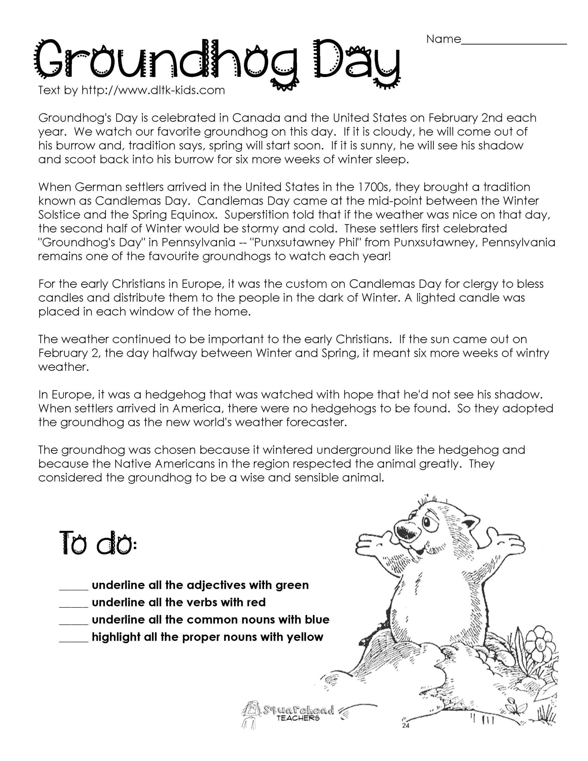 Native American Worksheets For Kindergarten Groundhog Day Activities History Worksheets Groundhog Day [ 2560 x 1978 Pixel ]
