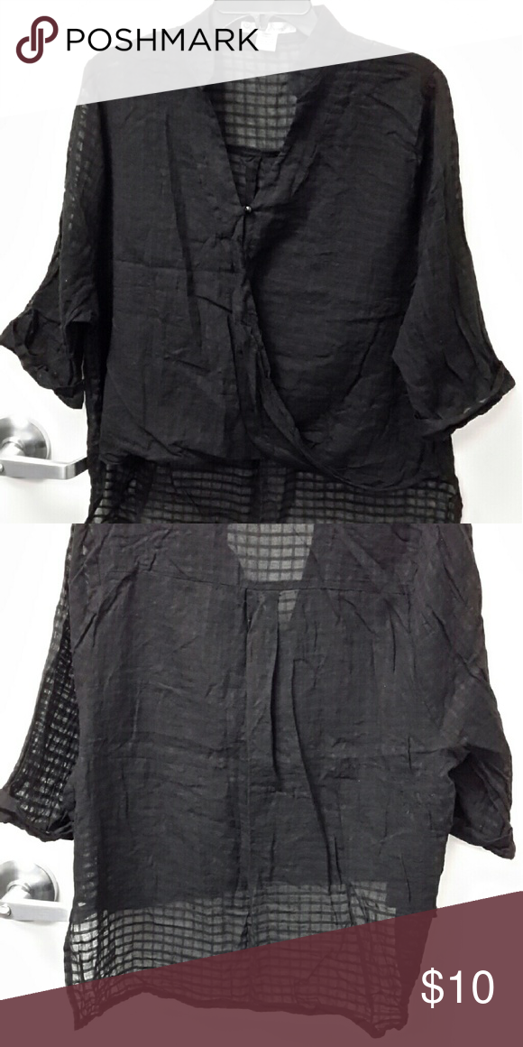 Black blouse Great condition, no holes or tears Tops Blouses
