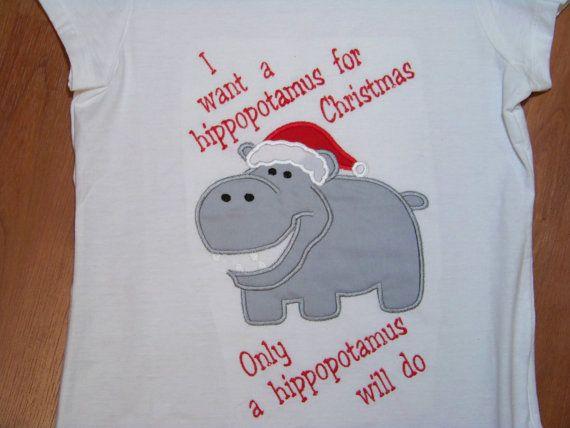 All I Want For Christmas Is A Hippopotamus T Shirt By Playpatch Boys Christmas Shirt Boys Christmas Christmas Girl