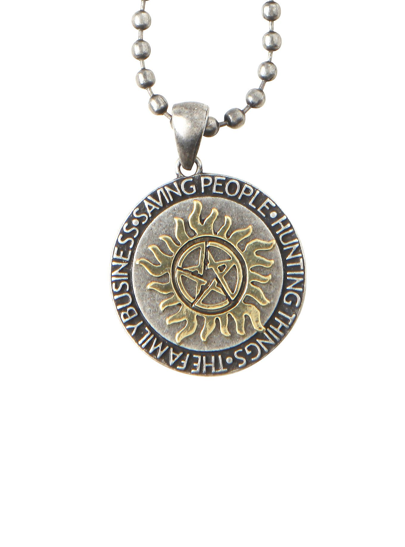 Circle Symbol Necklace - Supernatural i7CXzRMI