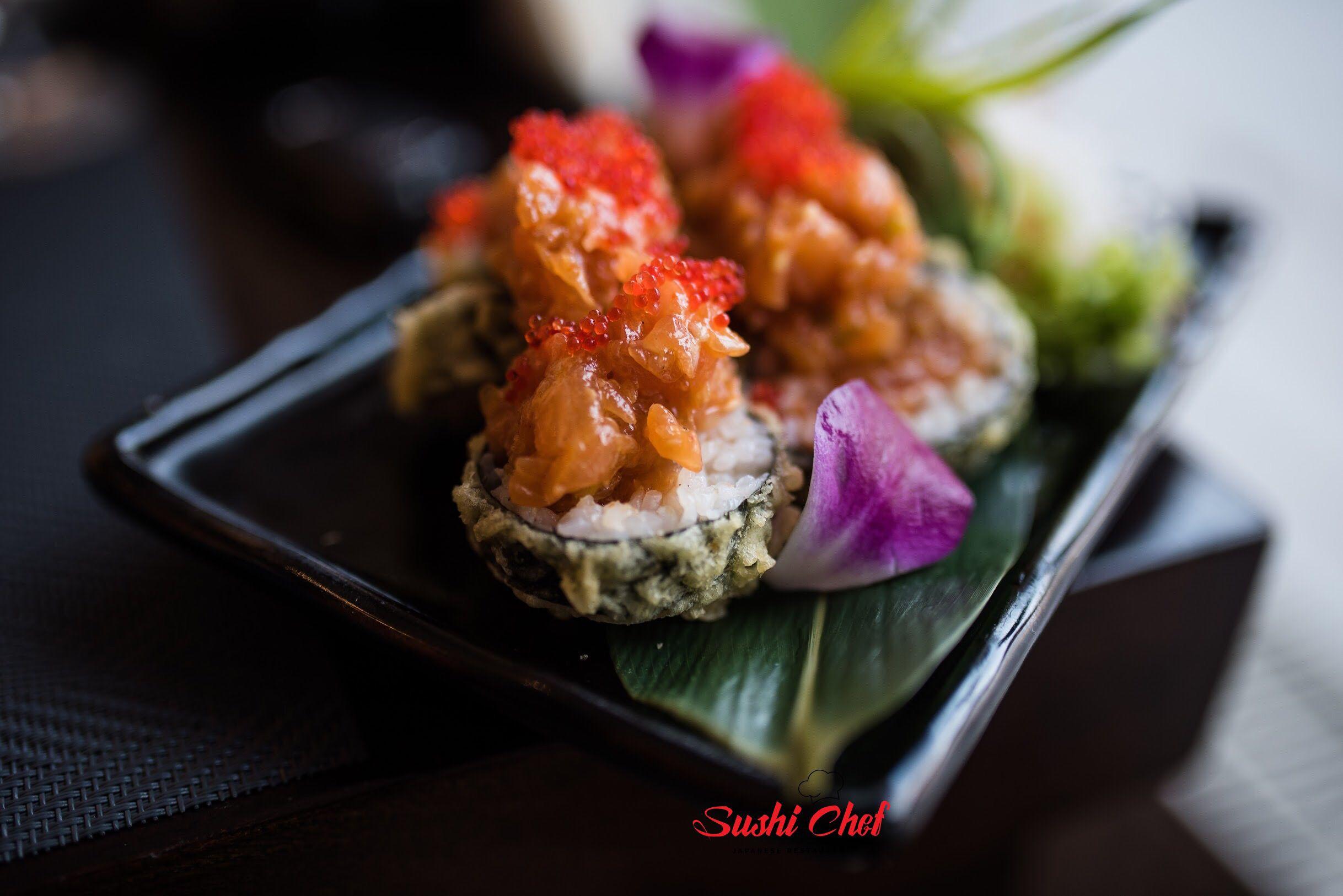 Tempura Salmon Tatar Sushi Chef Tempura Sushi