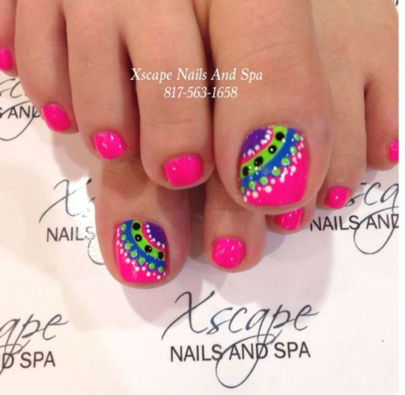 Fun #Summer Pedicure Ideas to Make Your Feet Stand out . - Fun #Summer Pedicure Ideas To Make Your Feet Stand Out Nail