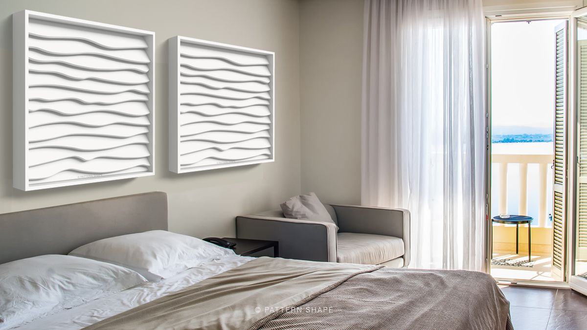 Wave Wall Art Customized Wall Art To Infuse Relaxation Into Your Bedroom Custom Wall Art Home Decor Design