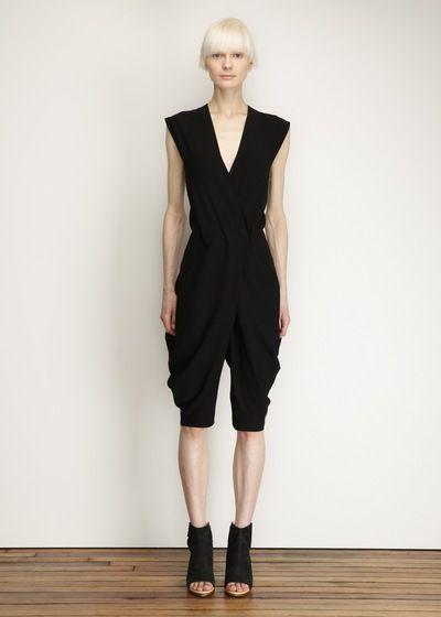 Zero + Maria Cornejo Cata Jumpsuit (Black). Different shoes; definitely.