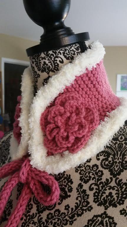 Hand Knit Kids , Neck Warmer, Ear Warmer, Neck Scarf ROSE | mi ...