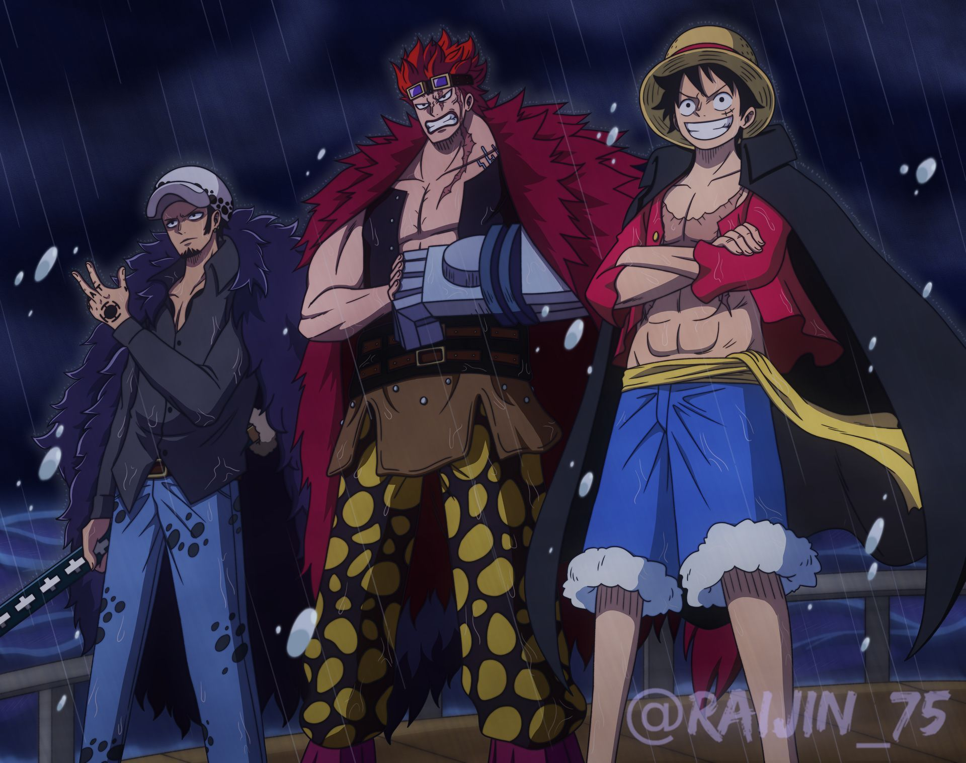Trio Supernovas (Eustass Kid, Monkey D. Luffy & Trafalgar ...