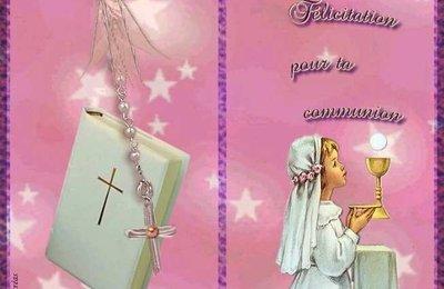 Carte de f licitations communion gratuite imprimer cartes 1 re communion carte - Image religieuse gratuite a imprimer ...