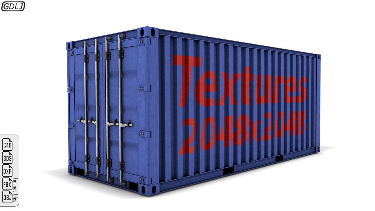 Shipping Container Detailed Model Shipping Container Psd Texture Real Model
