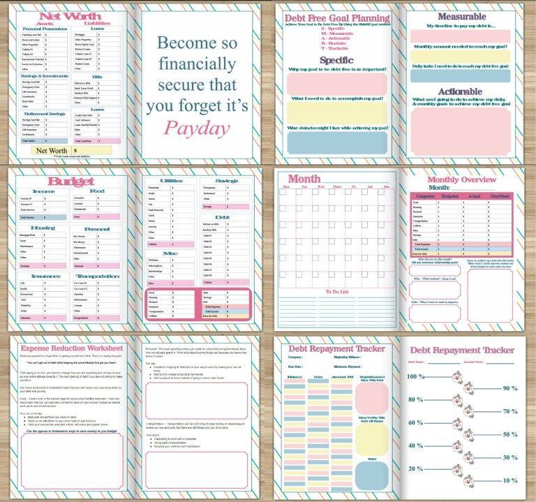 Financial Freedom Debt Free Planner Journey to debt freedom