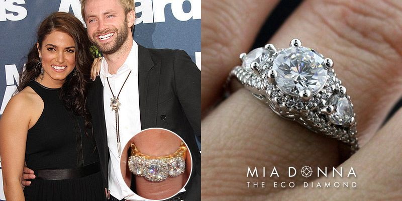 Unique Celebrity Three Stone Engagement Rings