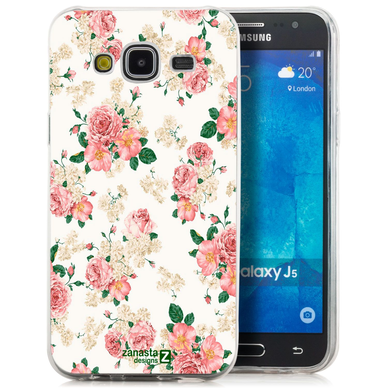 Zanasta Designs Tpu Back Cover Für Samsung Galaxy J5 Roses White
