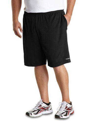 Reebok Big /& Tall Play Dry Tech Mesh Shorts