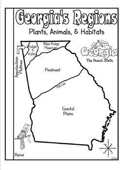 Georgia Regions Plants Animals And Habitats By Classroom Panda Monium Teachers Pay Teacher Georgia Regions Lesson Plan Template Free Teacher Projects