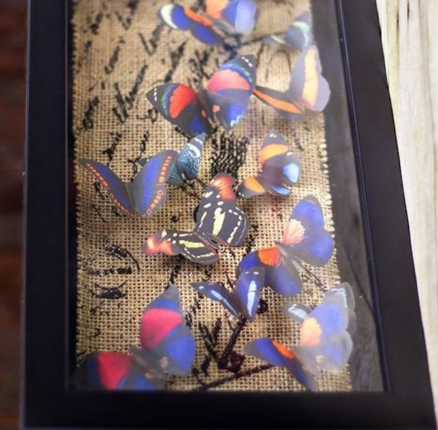 Homemade Butterfly Wall Art Craft