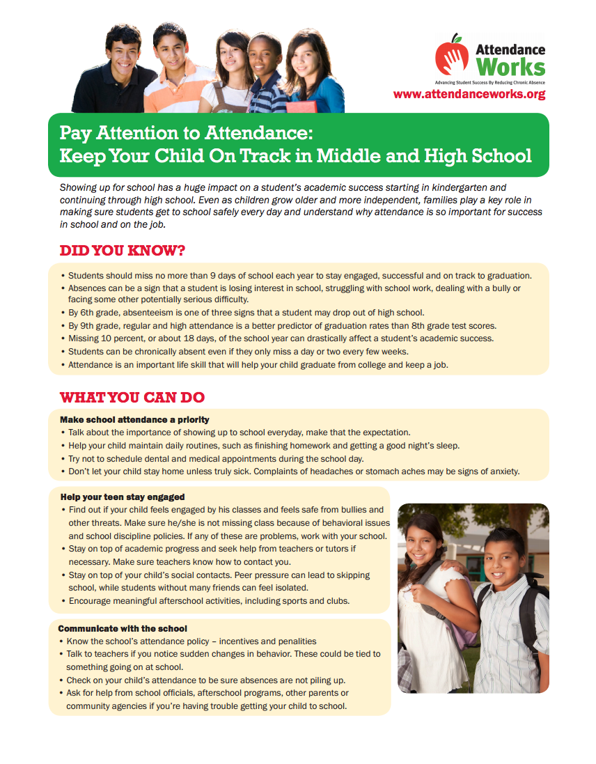 the importance of student and parent attendance in school 219 originally published in the school community journal, vol 8, no 2, fall/winter 1998 parent involvement: the key to improved student achievement.