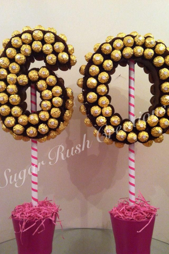 large double numbers in ferrero rocher geschenke pinterest geschenkideen ferrero rocher. Black Bedroom Furniture Sets. Home Design Ideas