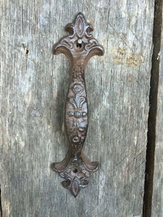 Drawer Pulls Rustic Shabby Chic Cast Iron Drawer Pull Vintage