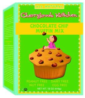 Chocolate Chip Muffin Mix PEANUT FREE Dairy Free + Egg Free + Nut Free  Vegan  Kosher