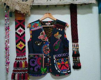 Pink and Lavender Patchwork Vest by ValeriesNeedleCrafts on Etsy