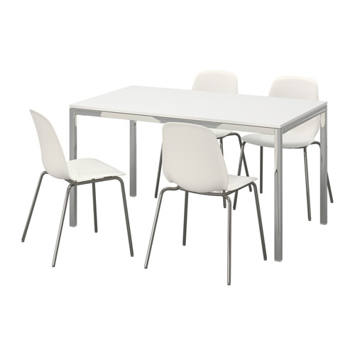 Torsby Leifarne Table And 4 Chairs High Gloss White White 53
