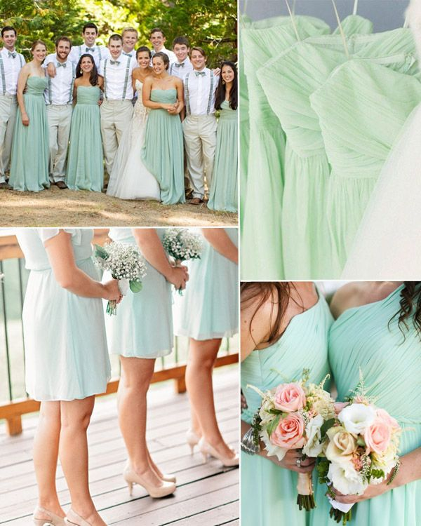 Solid Mint Bridesmaid Dresses For Wedding 2017