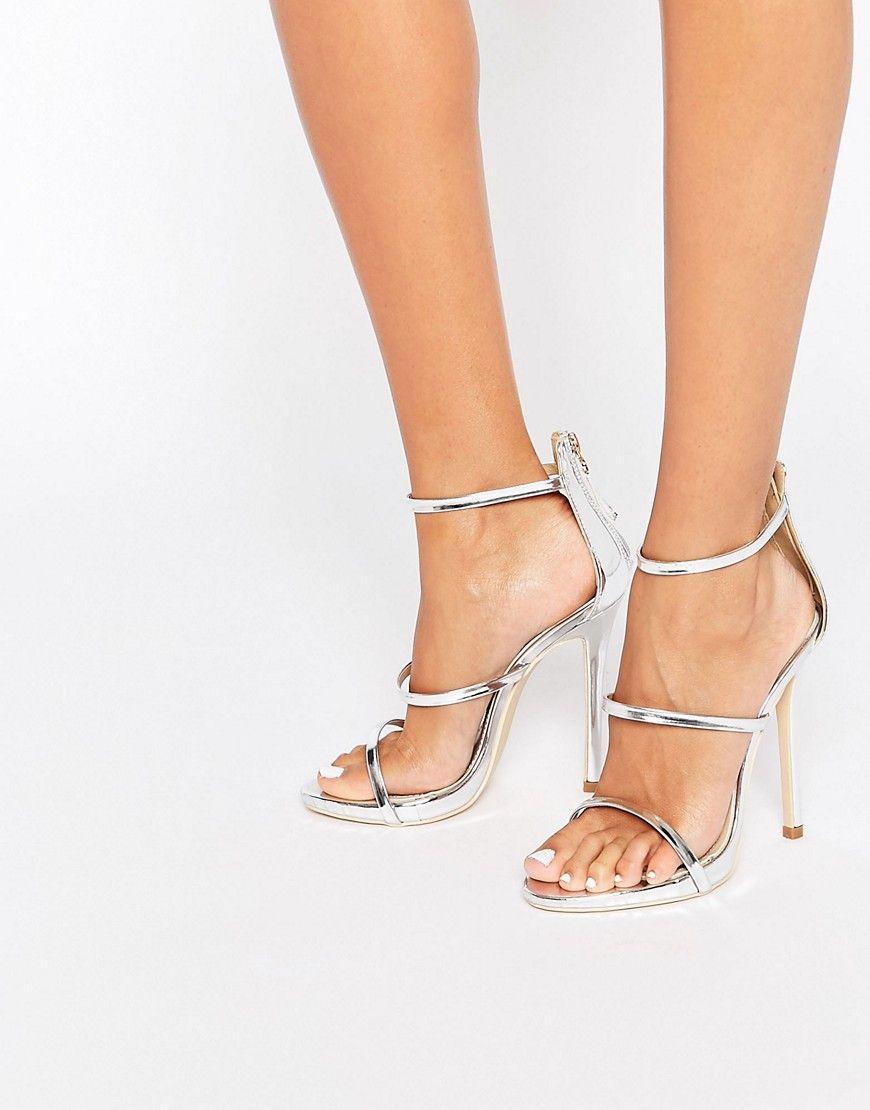 Bild 1 Von Public Desire Aisha Silberne Hohe Sandaletten