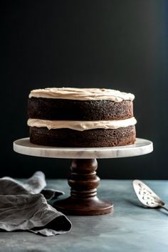 Guinness Chocolate Cake with Brown Butter Frosting - A rich chocolate cake made with Guinness and brown butter and topped with the creamiest most delicious cream cheese  brown butter Guinness frosting. Perfect for any celebration - especially St. Patrick's Day! |   Guinness Chocolate Cake with Brown Butter Frosting - A
