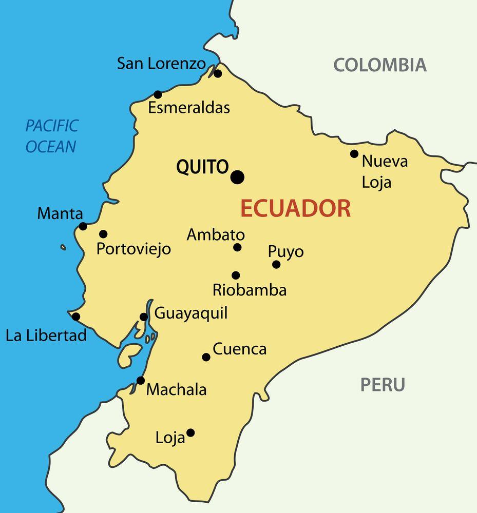 Map Of Ecuador Ecuador Flag Facts And Places To Visit In 2020 Map Places To Visit Ecuador