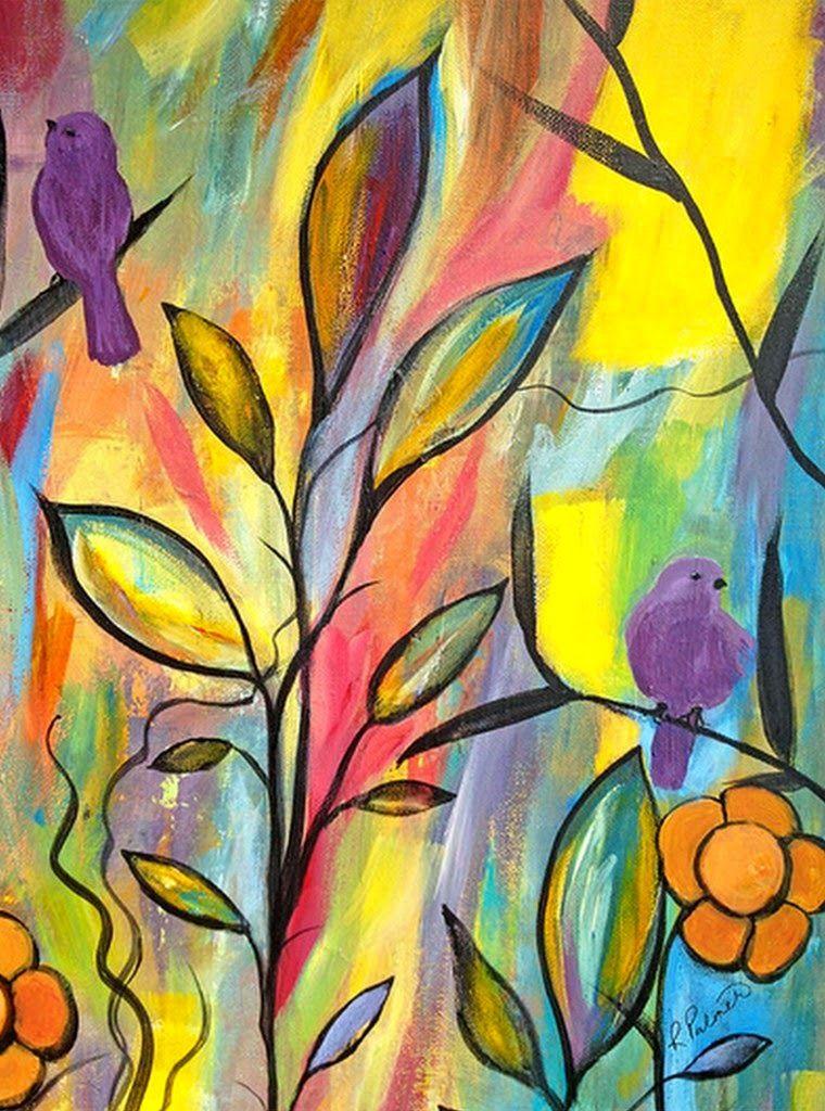 Pinturas Al Oleo De Flores Abstractas Buscar Con Google Art Prints Art Online Wall Art