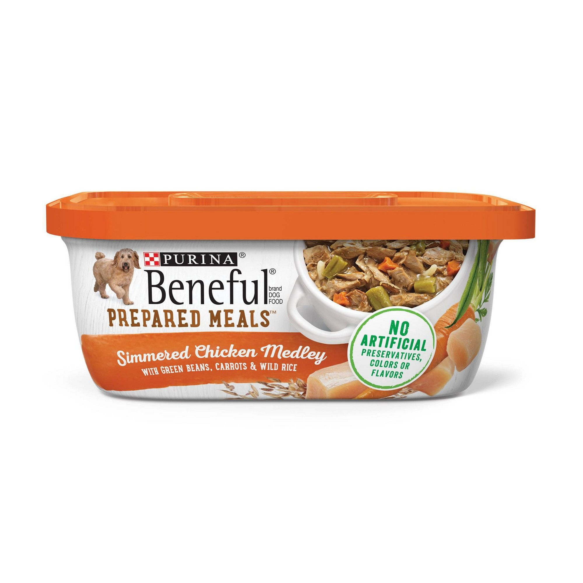 Beneful Prepared Meals Chicken Medley With Green Beans Carrots