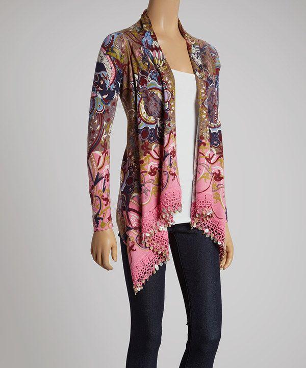 This Plum Bohemian Wool-Blend Open Cardigan - Women by Lark Rising is perfect! #zulilyfinds