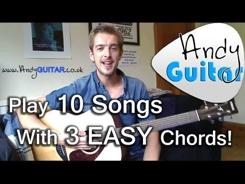 How to play G, C and D chords | Play 10 guitar songs with three ...