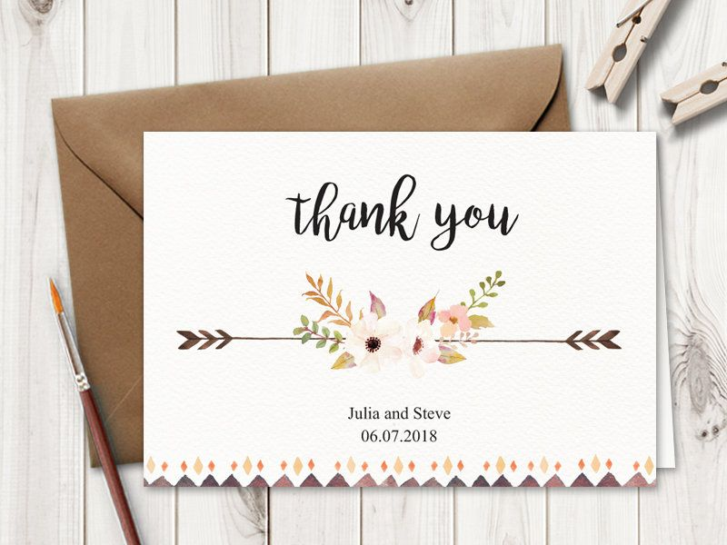 Rustic Wedding Save The Date Card Template Flower Etsy Wedding