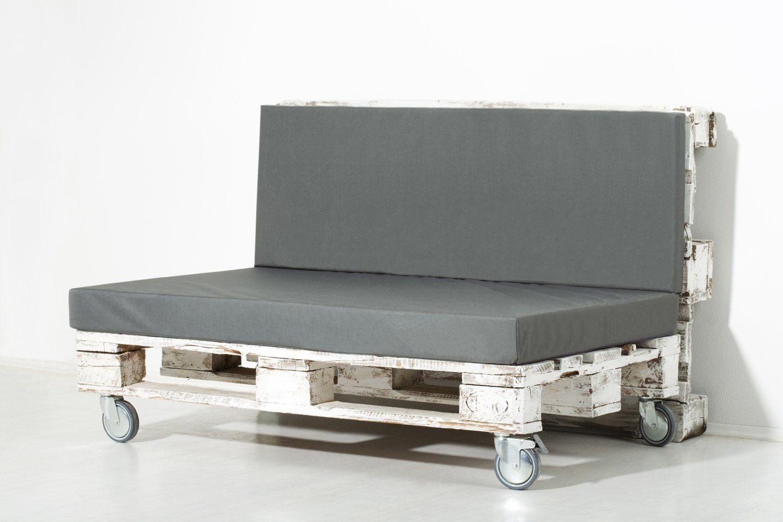 Paletten Sofa Nur Ein Palette Auf Rollen Mit Ruckenlehne