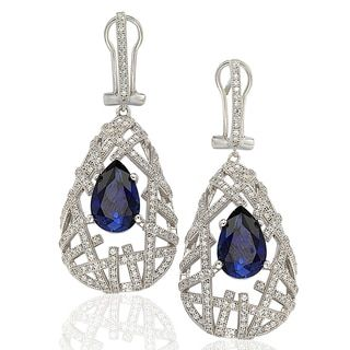 Shop for Suzy Levian Sterling Silver Cubic Zirconia Blue Pear Solitaire Earrings. Get free delivery at Overstock.com - Your Online Jewelry Destination! Get 5% in rewards with Club O!