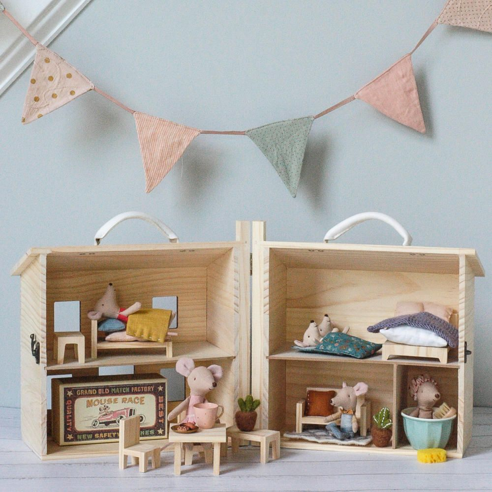 Olli Ella Holdie Wooden Doll House #dollhouse