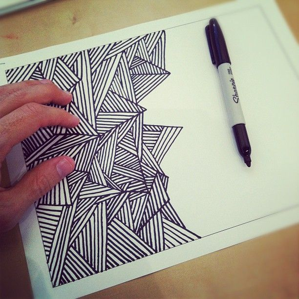 Awesome drawing with a black sharpie marker art for Cool things to draw with markers