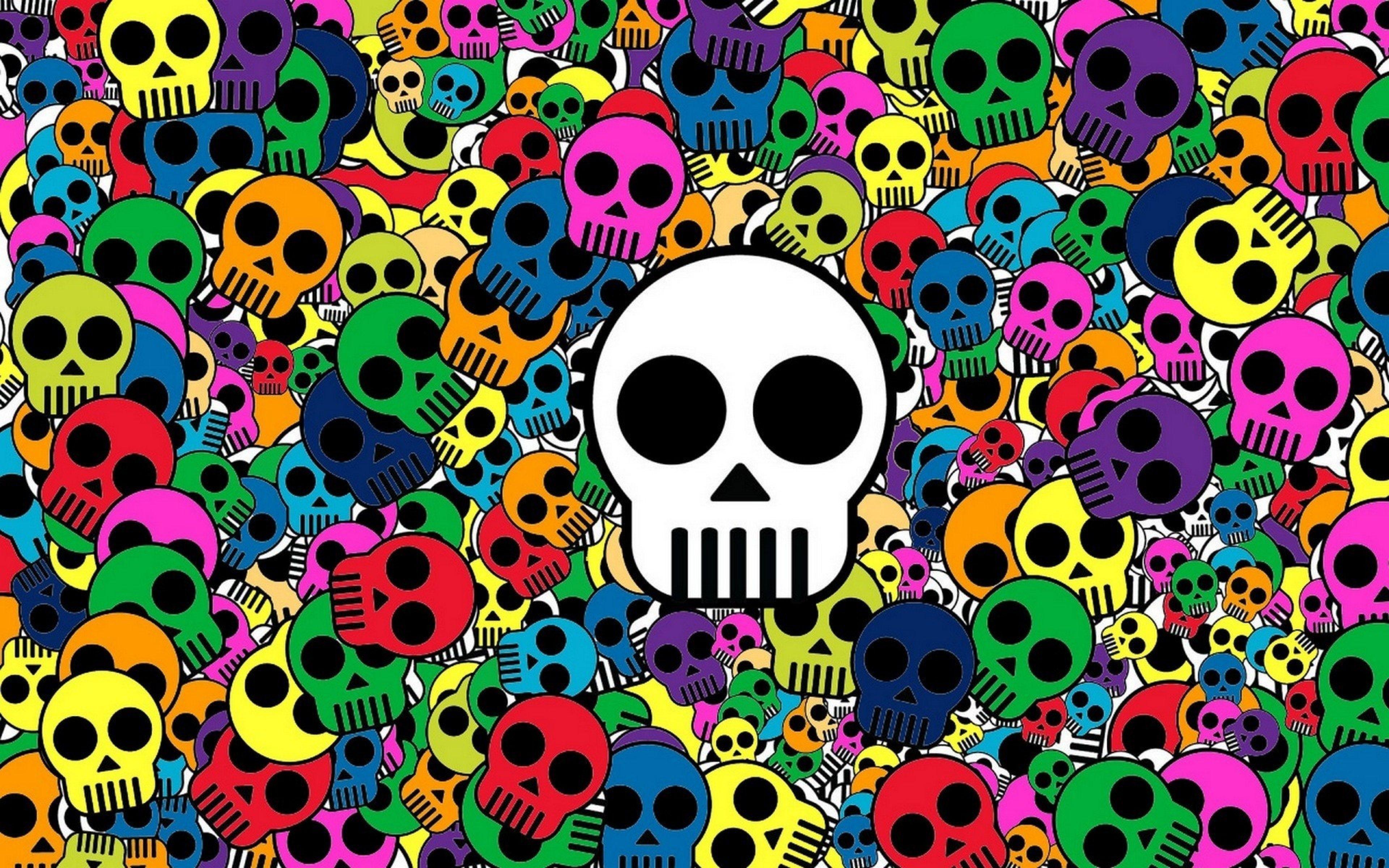 3840x2400 Wallpaper Skull Background Bright Multi Colored Skull Wallpaper Abstract Wallpaper Skull Art